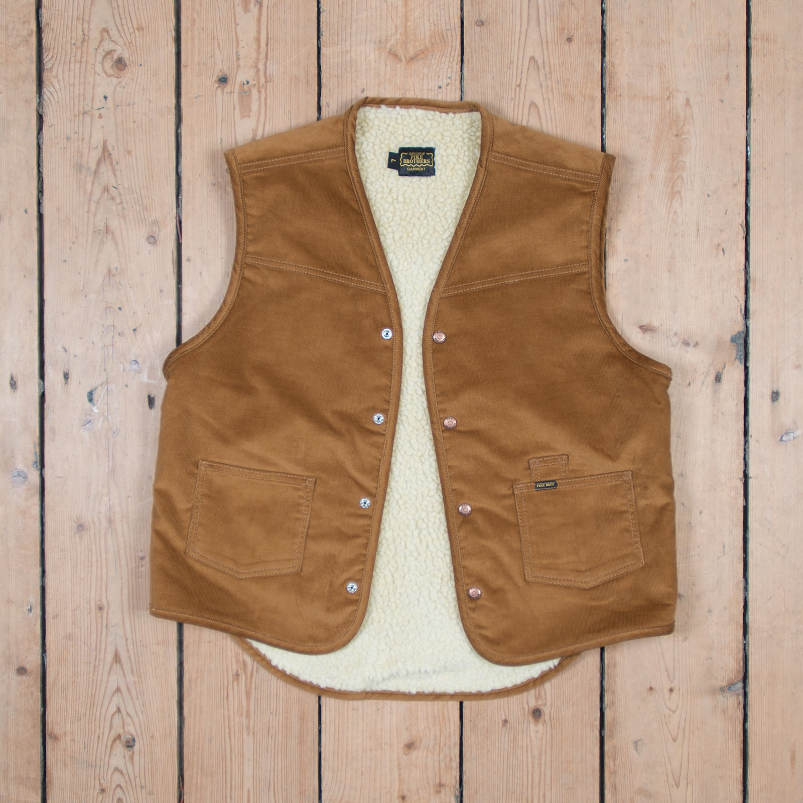 1966 Rodeo Vest Heavy Cord Mustard