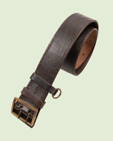 Vintage tooled army belt