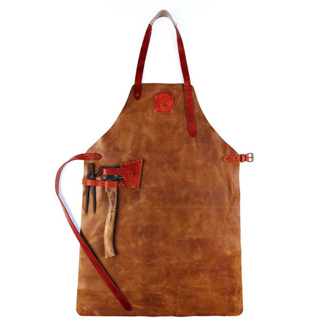 Witloft Leather Apron Brown