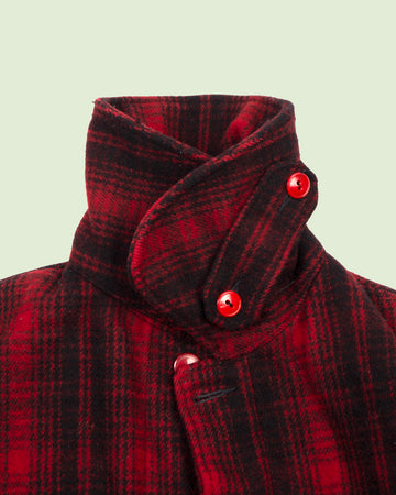 Woolrich Red Black Checkered Mackinaw (L and M)