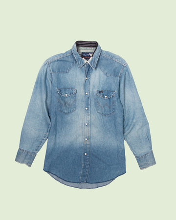 Wrangler Denim Shirt Repaired (M/L)
