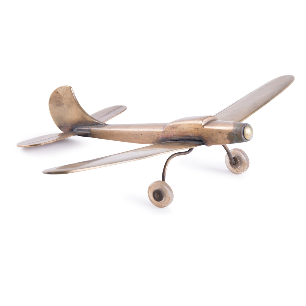 Vintage Brass Fokker Airplane