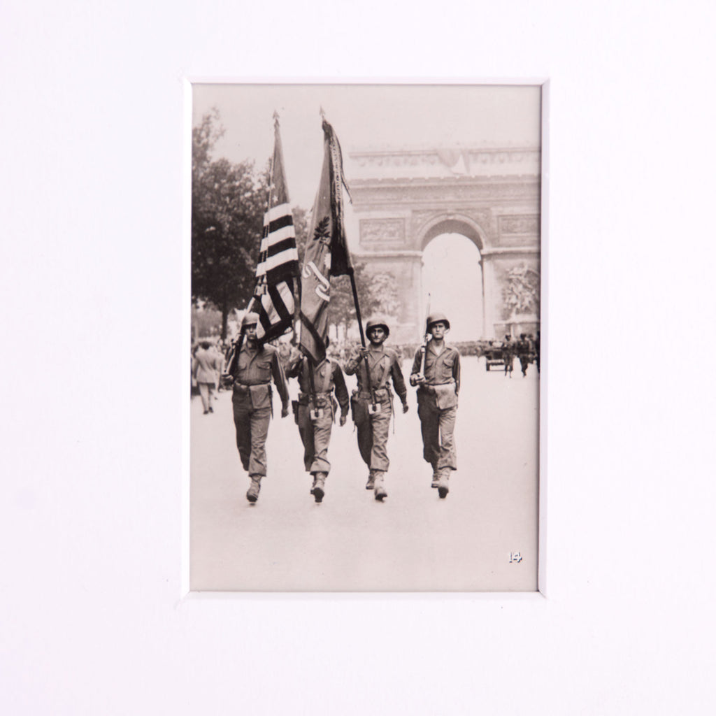 Liberation of Paris Photograph Vintage Arc Triomphe
