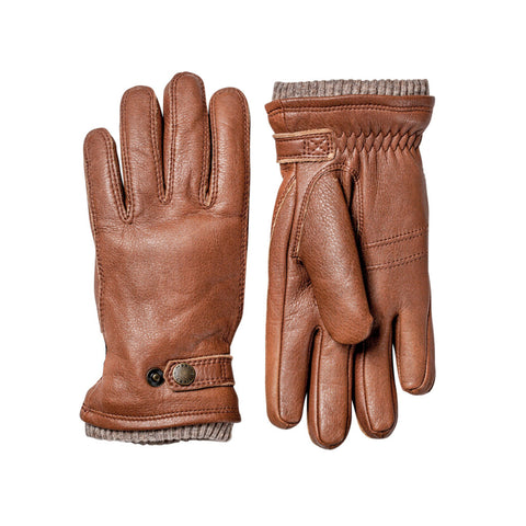 Hestra Utsjö Chestnut Elk Leather Button Glove