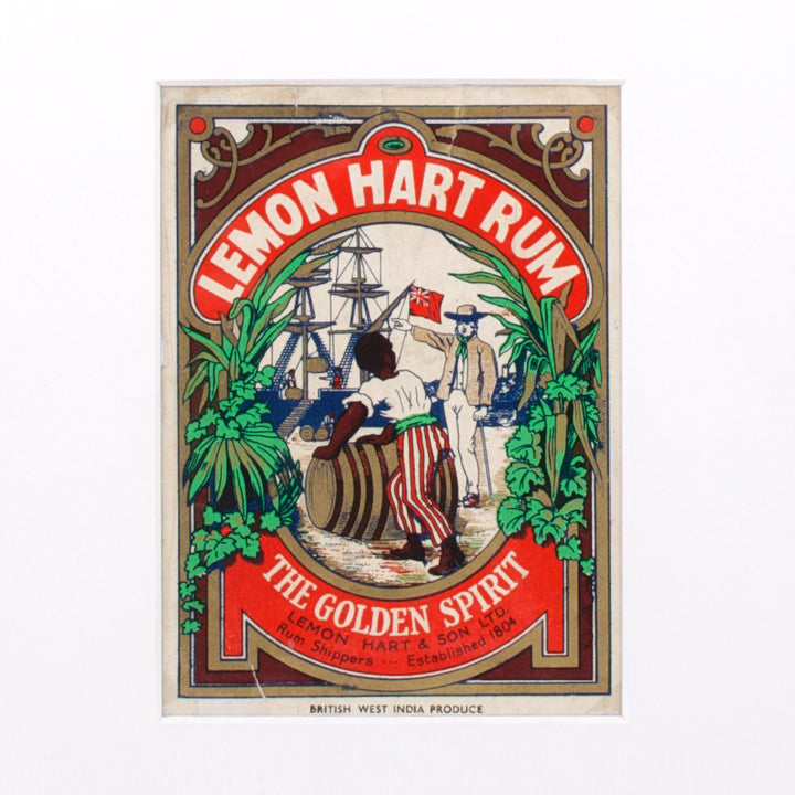 Lemon Hart Rum Label Vintage