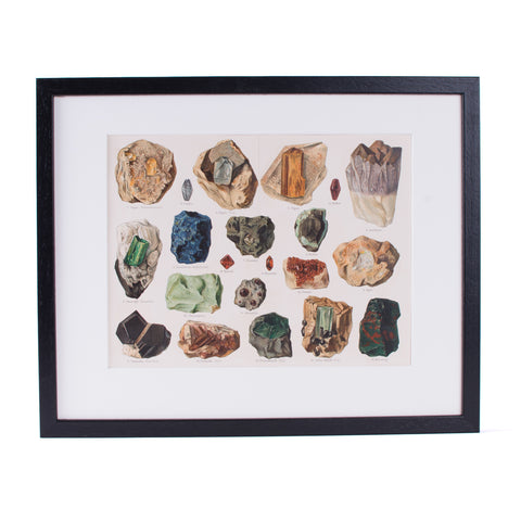 Minerales Lithograph
