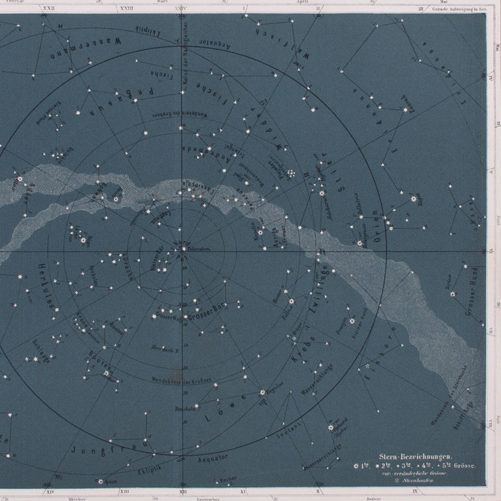 Northern Sky Stars Lithograph Lito Litho Concrete Matter Amsterdam Vintage