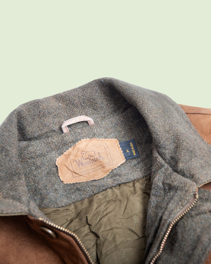 Woolrich Suede and Wool Coat (XL)
