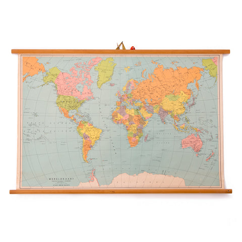 World Map School Chart