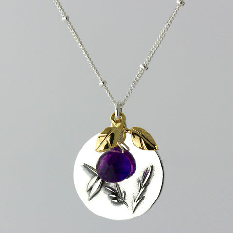 Dragonfly & Amethyst Charm Necklace
