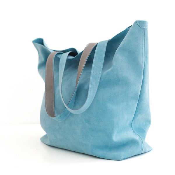 The Nora | turquoise suede