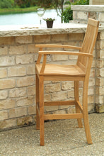 Load image into Gallery viewer, Teak Bar Height Table and Four Chair Set