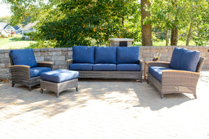Wicker 4 Piece Deep Seating Bella Collection