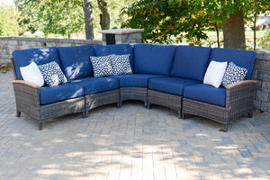 "Wicker Sectional 5 Piece ""L"" Shape Bella Collection"