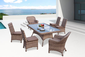 Wicker 7 Piece Dining Captiva Collection
