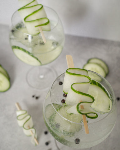 gin tonic cucumber copa glass glasses cocktail