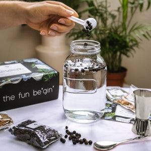 The Ultimate Gin Making Kit with Silver Bar Accessories
