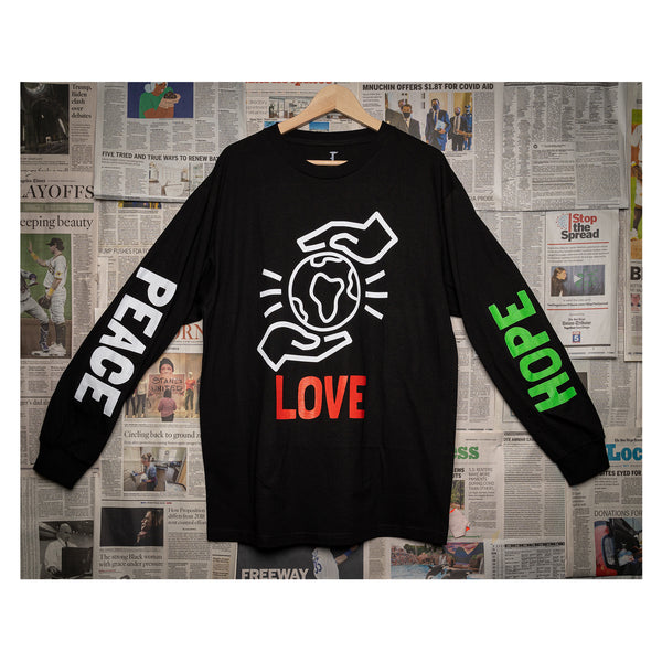 BMT - Peace, Love, Hope L/S Tee (black)