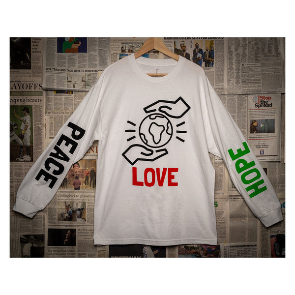 BMT - Peace, Love, Hope L/S Tee (white)