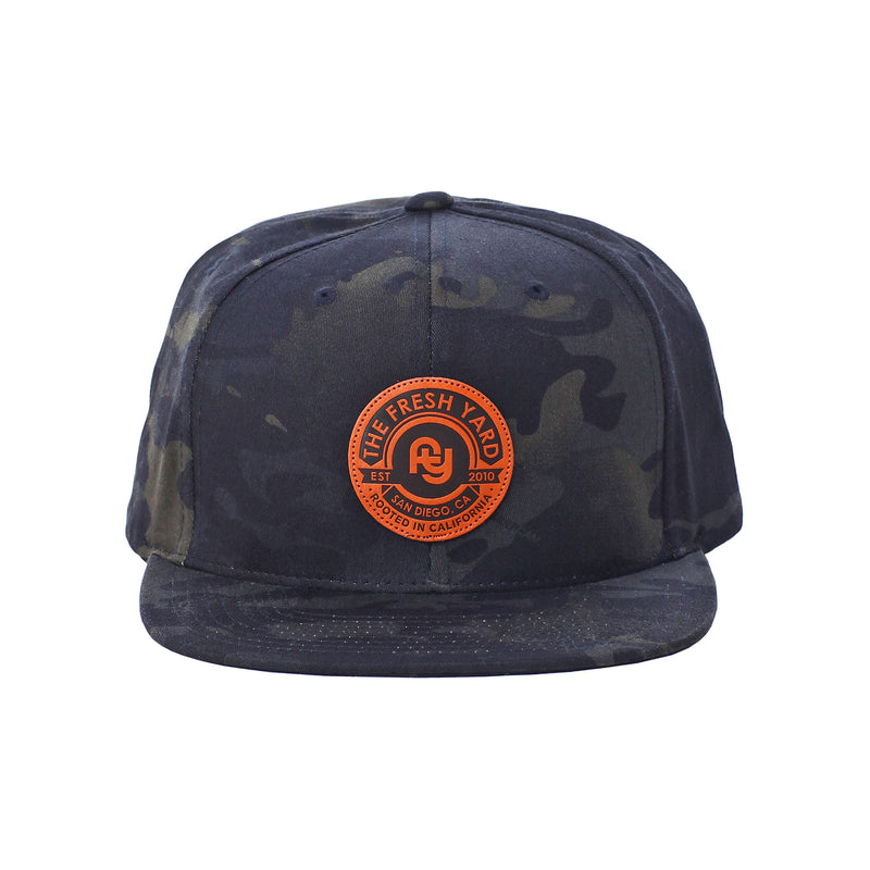 FY Leather Patch Hat (black camo)