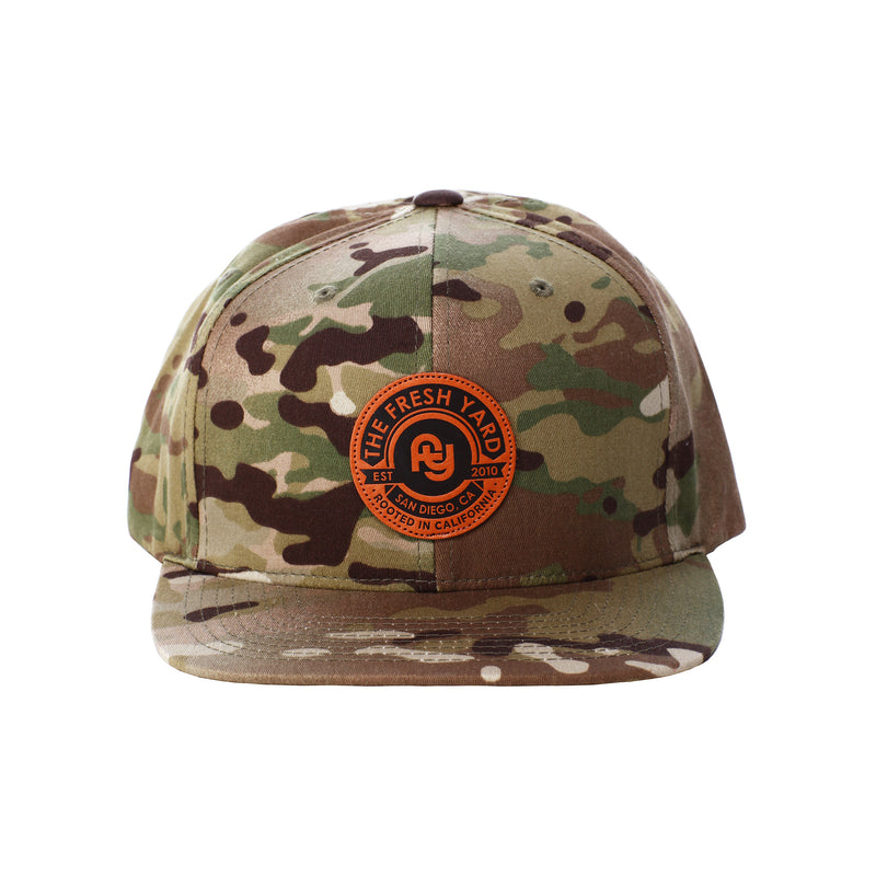 FY Leather Patch Hat (green camo)