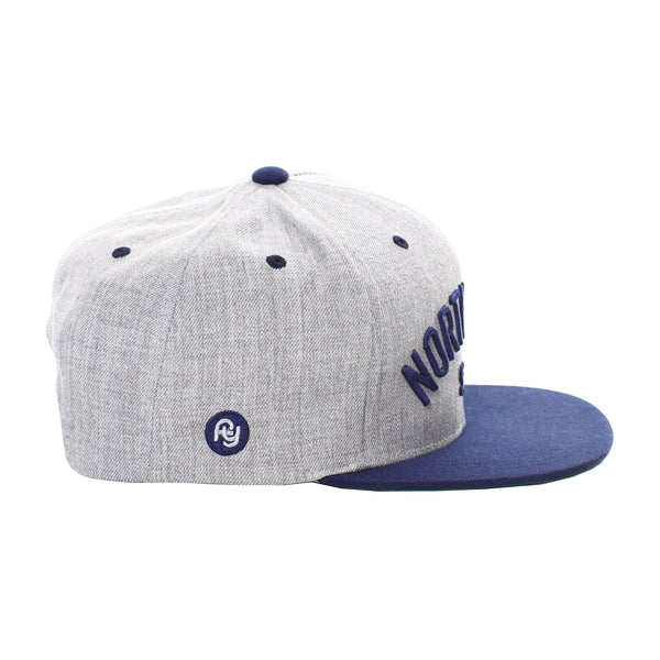 North Park USS Snapback Hat (heather/navy)
