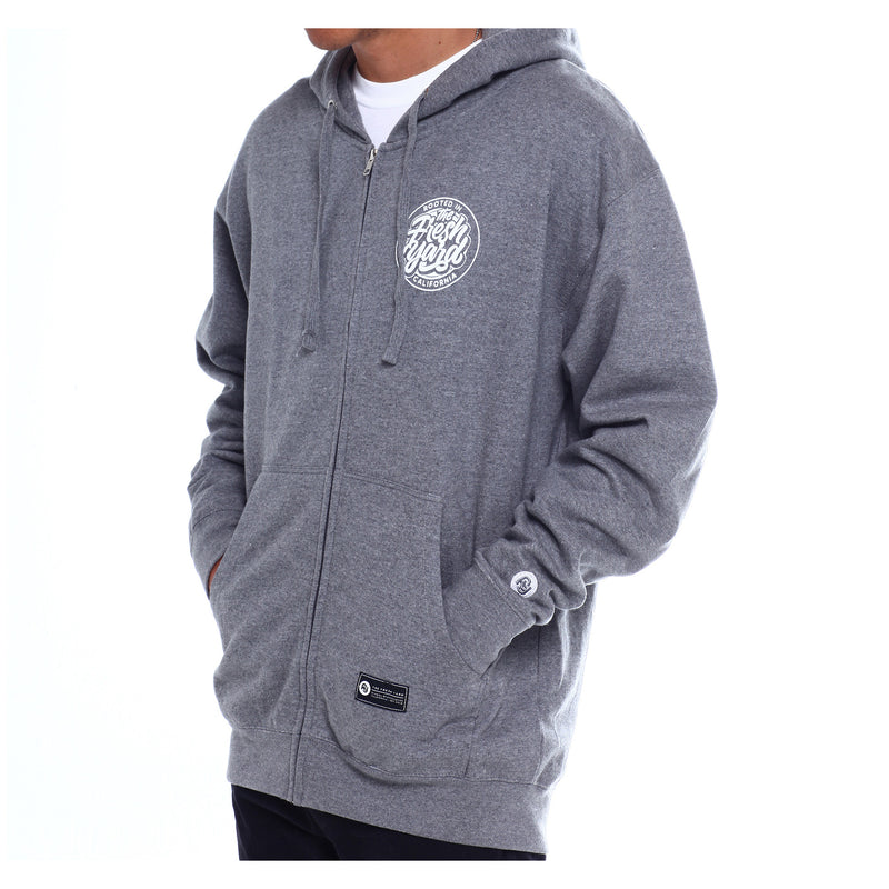 Cali Rooted Zip Hoodie (heather grey)