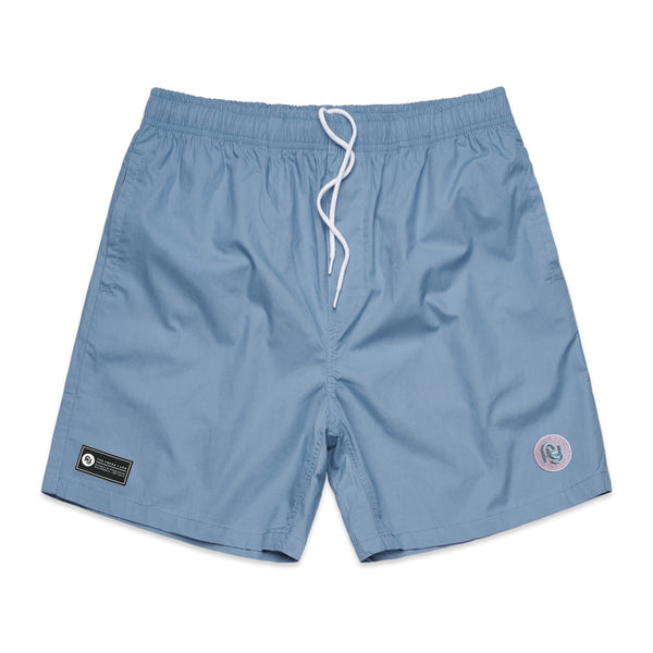 FY Logo Beach Shorts (light blue)