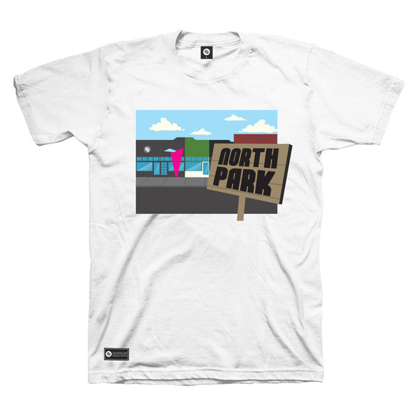 North/South Park Tee (white)