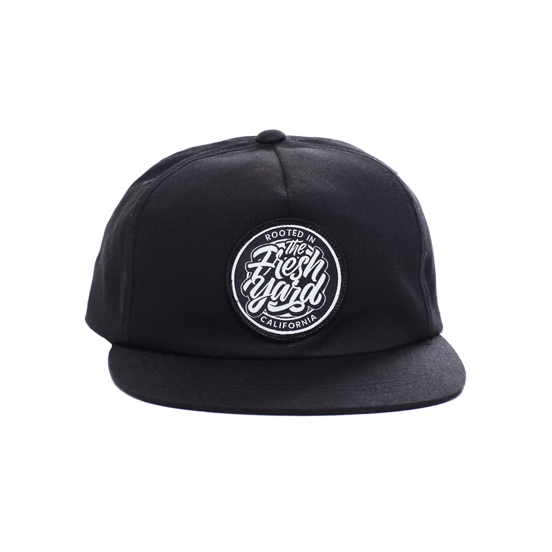 Cali Rooted Patch Hat (black)