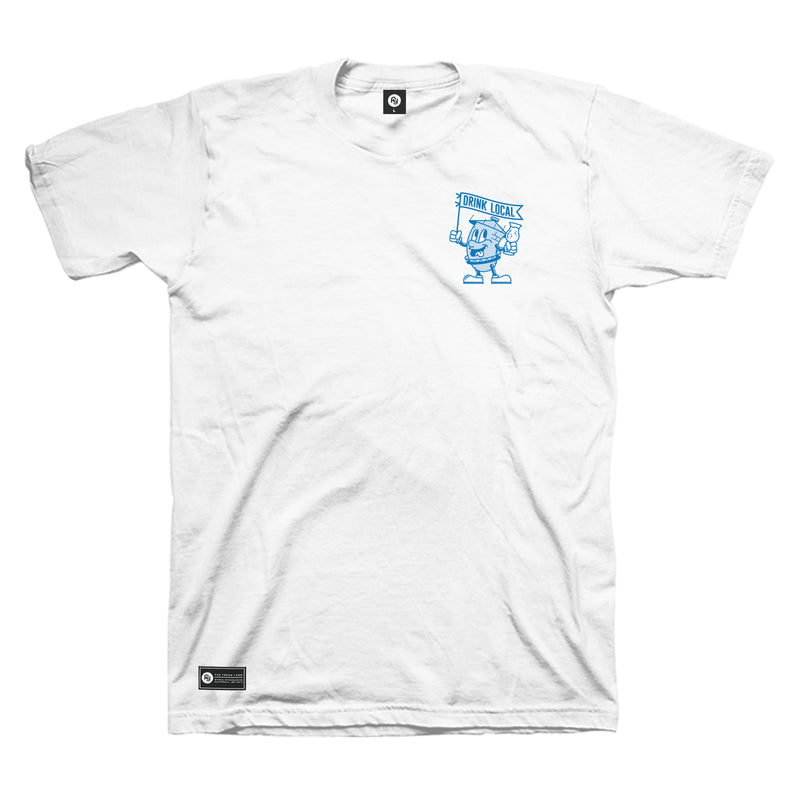 Drink Local 18 Tee (white)