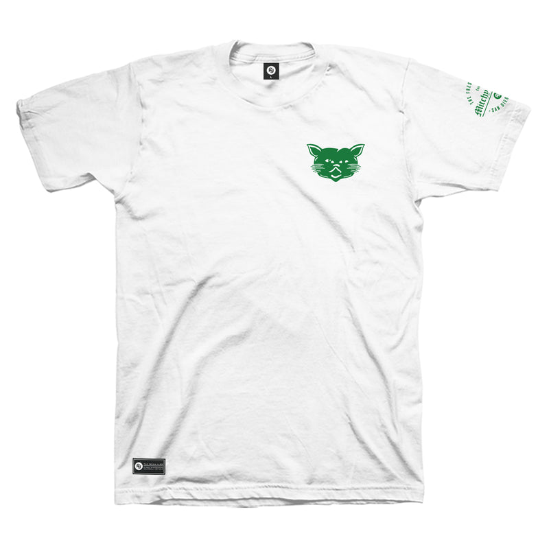 FY x Mitchy Slick - Green Cat Tee (white)