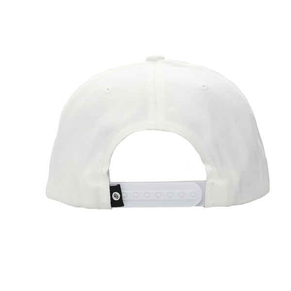 Signature Label Snapback Hat (white)