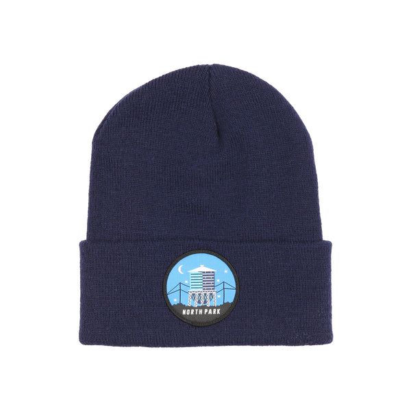 NP Tower Patch HW Beanie (navy)