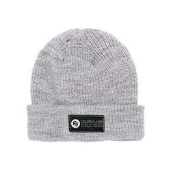 Signature Label Ribbed Beanie (grey)