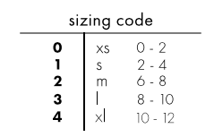 size chart for jess brown women's clothing