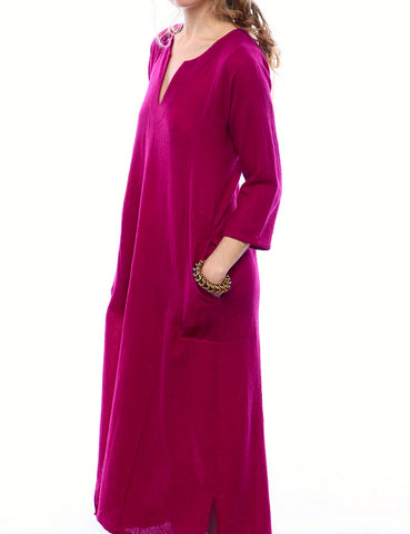 wool caftan dress - sale