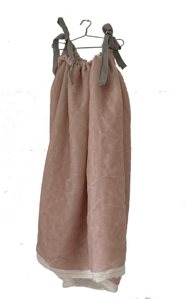 blush pink washed velvet chemise