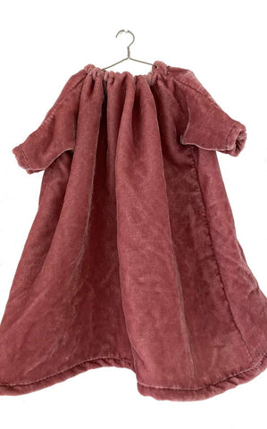 dusty rose washed velvet dress