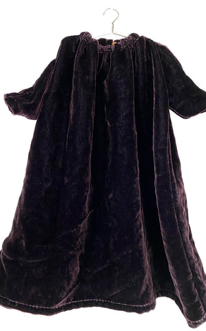 eggplant washed velvet dress