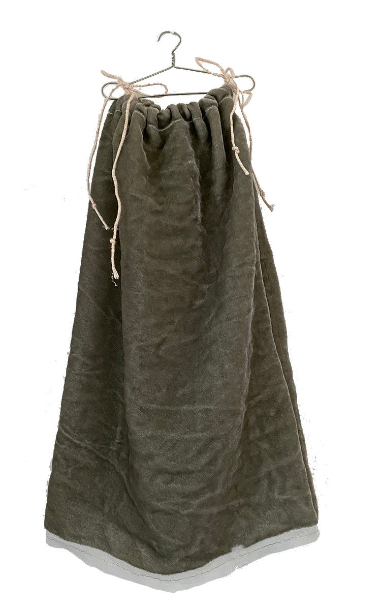 elephant grey washed velvet chemise