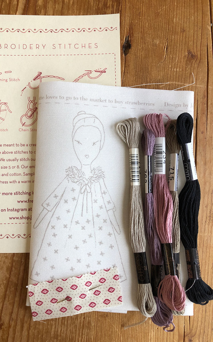 jess brown + French General embroidery sampler - Petite Colette