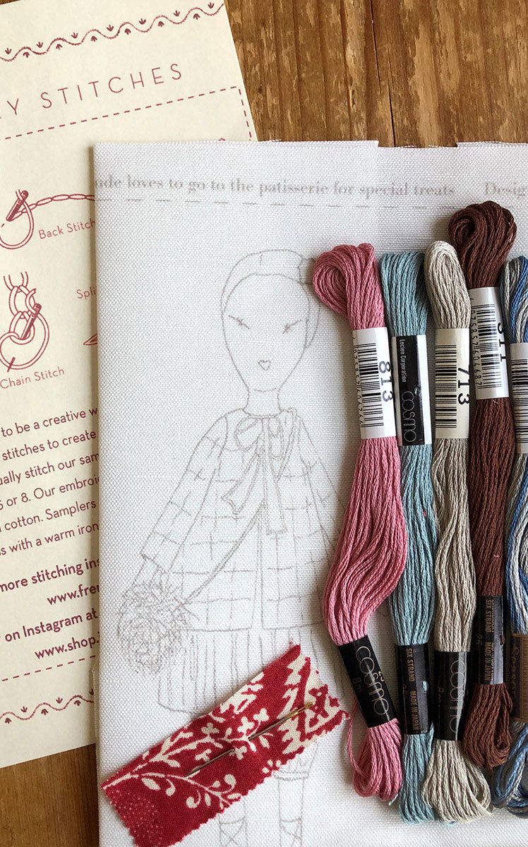 jess brown + French General embroidery sampler - Petite Maude