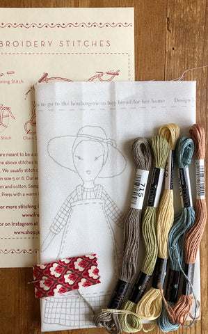 jess brown + French General embroidery sampler - Petite Suzette