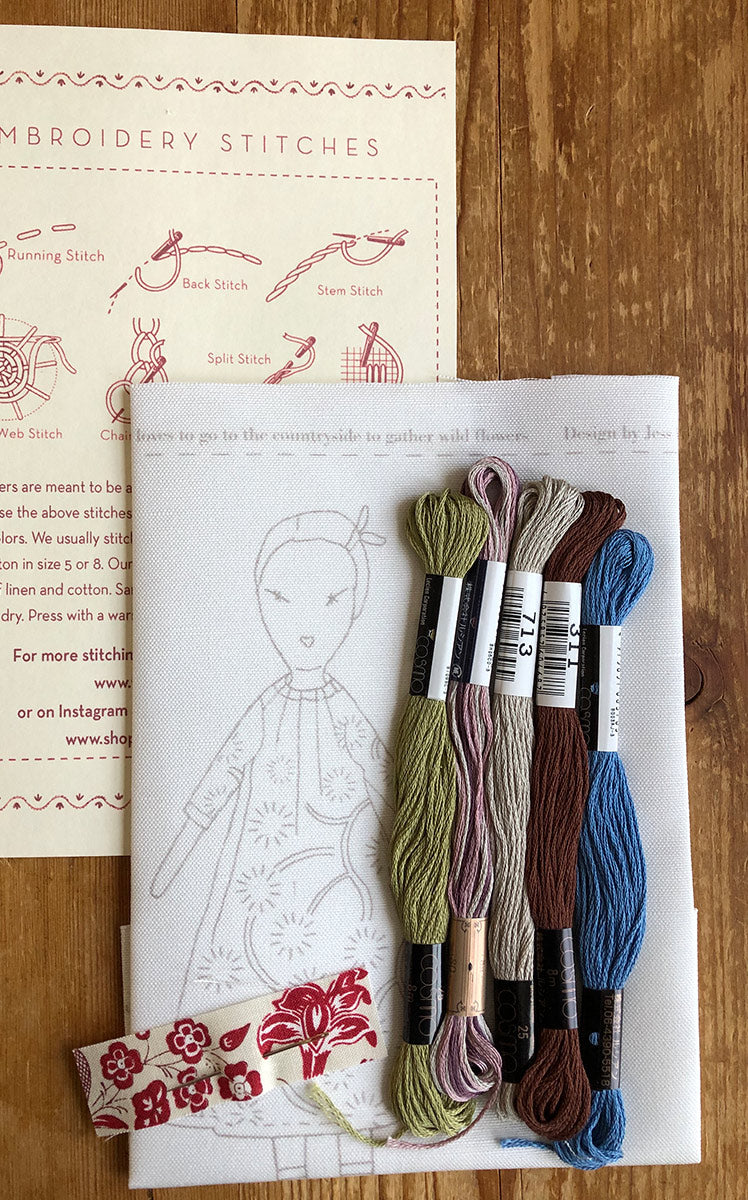 jess brown + French General embroidery sampler - Petite Vivienne