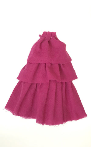 fuchsia wool cha cha dress