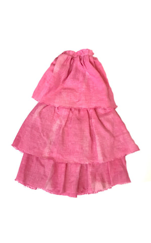 hand-dyed hot pink linen cha cha dress