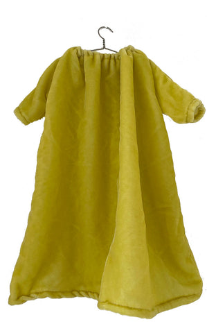 lemon washed velvet dress
