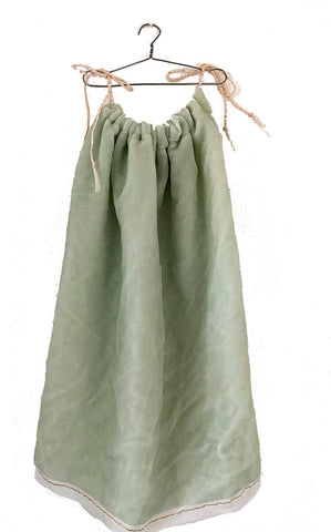 mint washed velvet chemise
