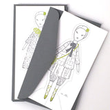 paper doll note card set